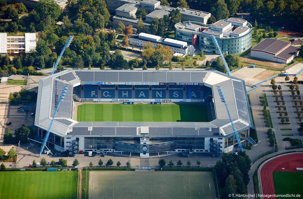 DKB-Arena aka Ostseestadion | Ostseeflug Air Services GmbH