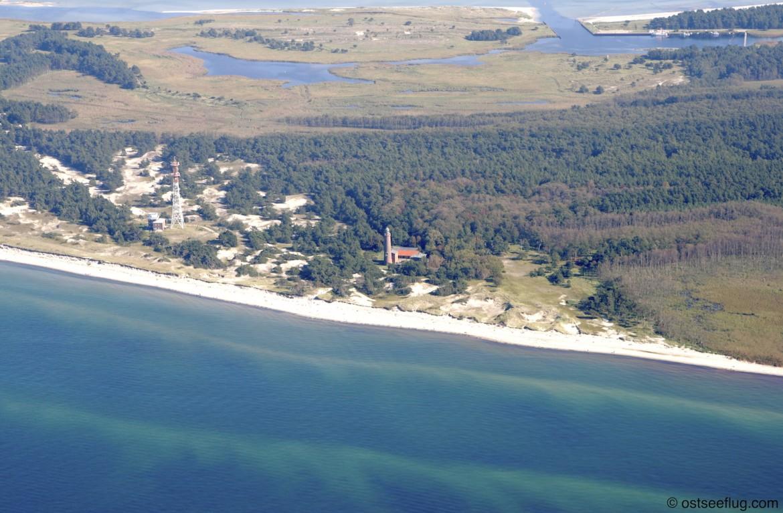 Natureum Darßer Ort auf der Halbinsel Fischland-Darß-Zingst aus der Vogelperspektive mit Blick Richtung Osten
